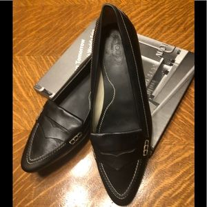 Tod's Black Leather Penny Loafers, EUR 40